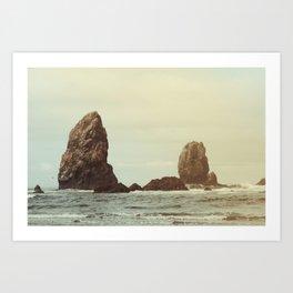 Sea Stacks (Cannon Beach, Oregon) Art Print