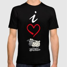 I love Ewe Black MEDIUM Mens Fitted Tee