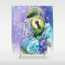 You Hold the Key  - Love Birds Collection - Sheena Pike Shower Curtain