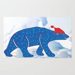 Polarbear in Love Rug