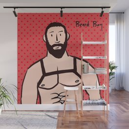Beard Boy: Bruno Wall Mural
