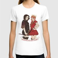 arya T-shirts featuring A Queen & her Knight by Noble Demons
