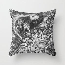 Koi Fish - The Life Cicle Throw Pillow