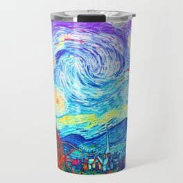 Psychedelic Starry Night Abstract Van Gogh Travel Mug