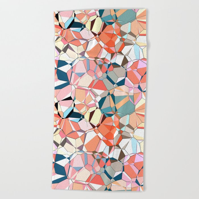 Jumble of Shapes And Colors Beach Towel