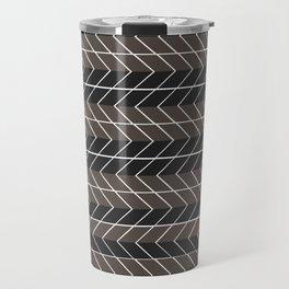 Non-conformist Black Chevron Pattern #society6 Travel Mug