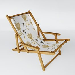 Hummingbird & Flower I Sling Chair