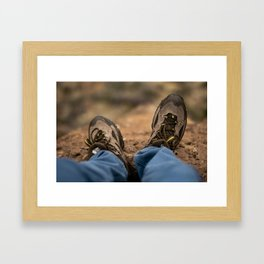 Hiking Boots Framed Art Print
