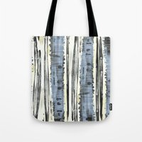 birch Tote Bags featuring Birch by Sand Salt Moon