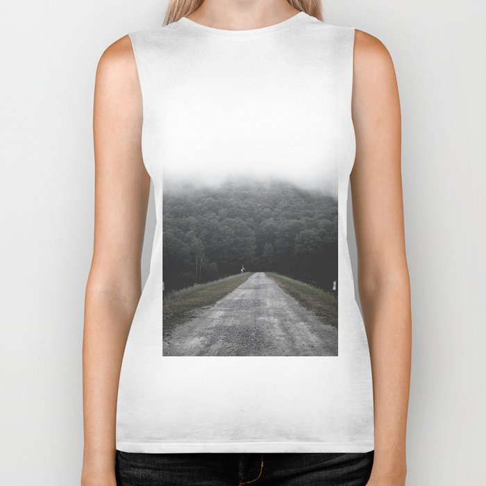 Foggy Road Biker Tank