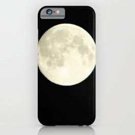 The moon over my balcony iPhone Case