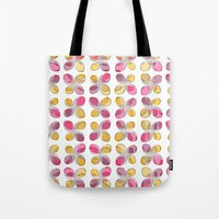 flower pattern Tote Bags featuring flower pattern by VessDSign