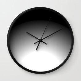 Radial radical (black) Wall Clock
