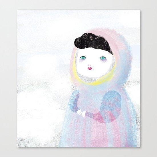 Miss Winter Canvas Print