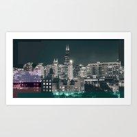 Chicago   Project L0̷SS   Art Print