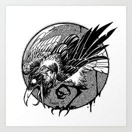 Noisy raven Art Print