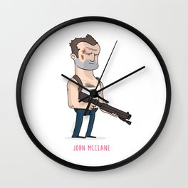 7 - John McClane Wall Clock