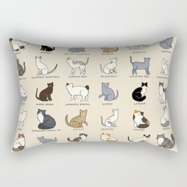 Cat Breeds Rectangular Pillow