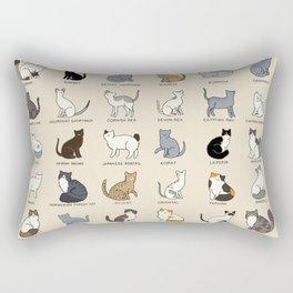 Cat Breeds Rectangular Pillow