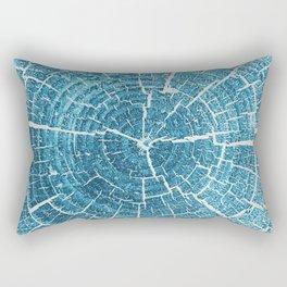 WOOD CUT / indigo Rectangular Pillow