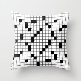 Crossword Puzzle - Write on it!  Throw Pillow