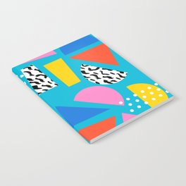 Airhead - memphis retro throwback minimal geometric colorful pattern 80s style 1980's Notebook