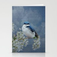 swallow Stationery Cards featuring Tree Swallow by TaLins