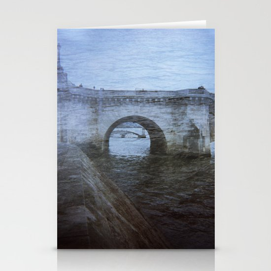 Paris Bridge & Seine Holga Double Exposure Stationery Cards