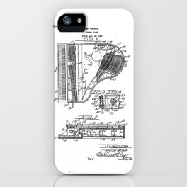 Grand Piano old patent vintage illustration iPhone Case
