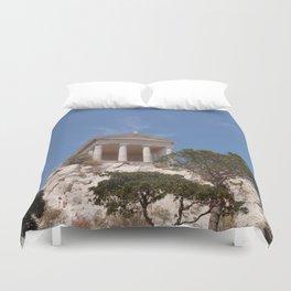 Roman Temple Near Marseille Duvet Cover