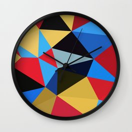 Geometric Abstract Art Pattern Eleven Wall Clock