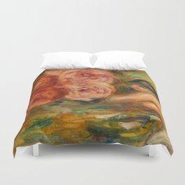 """Auguste Renoir """"Roses et Étude de Gabrielle"""" Duvet Cover"""