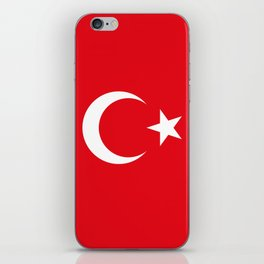 National flag of Turkey, Authentic color & scale iPhone Skin