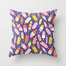 Popsicles Throw Pillow