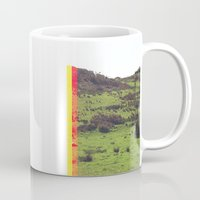glitch Mugs featuring glitch by hallebird