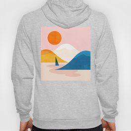 Abstraction_Lake_Sunset_Minimalism_002 Hoody