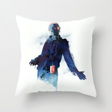 The Walkman Dead Throw Pillow