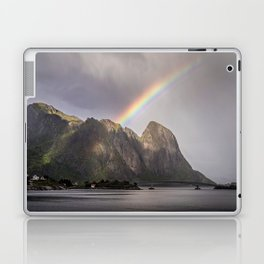 Mountain with rainbow Laptop & iPad Skin