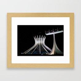 The Cathedral of Brasilia Framed Art Print