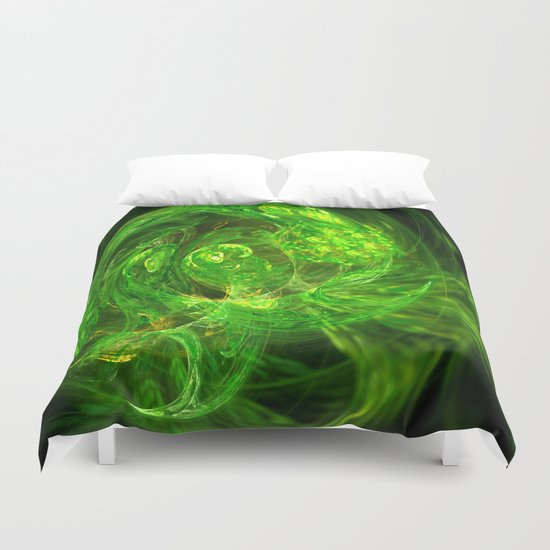 Serpent Emerging Duvet Cover