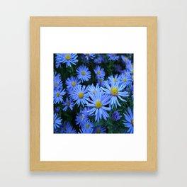 Unique Duvet Cover - Floral Design in Blue # 21 Framed Art Print