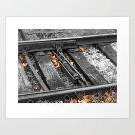 East Troy Rails Art Print