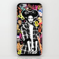 mickey iPhone & iPod Skins featuring MICKEY by Neon Wonderland