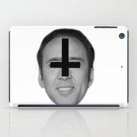 nicolas cage iPad Cases featuring Nicolas Cage // FA$HION by Jared Cady