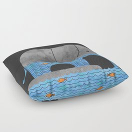 Thirsty Elephant  Floor Pillow