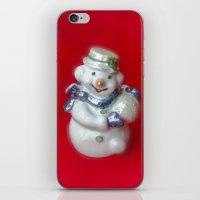 snowman iPhone & iPod Skins featuring Snowman  by Svetlana Korneliuk