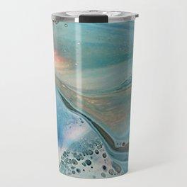 Pearl marble abstraction Travel Mug