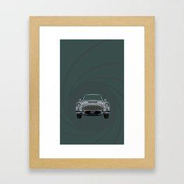 The 007 Car Framed Art Print