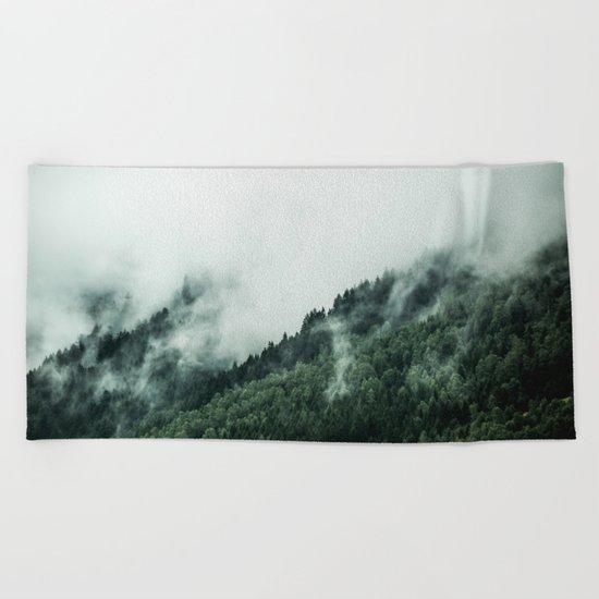 Foggy Woods 1 Beach Towel