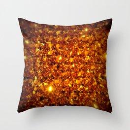 Copper Sparkle Throw Pillow